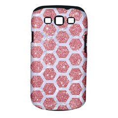 Hexagon2 White Marble & Pink Glitter Samsung Galaxy S Iii Classic Hardshell Case (pc+silicone) by trendistuff