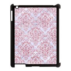 Damask1 White Marble & Pink Glitter (r) Apple Ipad 3/4 Case (black) by trendistuff