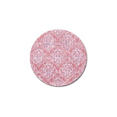 Damask1 White Marble & Pink Glitter Golf Ball Marker (10 Pack) by trendistuff
