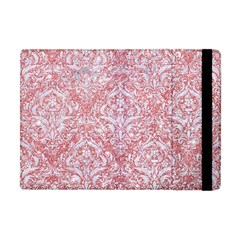 Damask1 White Marble & Pink Glitter Apple Ipad Mini Flip Case by trendistuff