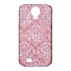 Damask1 White Marble & Pink Glitter Samsung Galaxy S4 Classic Hardshell Case (pc+silicone) by trendistuff