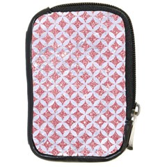 Circles3 White Marble & Pink Glitter Compact Camera Cases by trendistuff