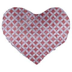 Circles3 White Marble & Pink Glitter Large 19  Premium Heart Shape Cushions by trendistuff