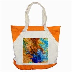 Blue Brown  Texture                                       Accent Tote Bag by LalyLauraFLM
