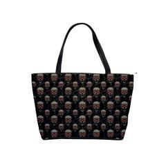Skulls Motif Pattern Shoulder Handbags by dflcprints