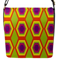 Geometric Retro Pattern Flap Messenger Bag (s) by goodart