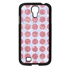 Circles1 White Marble & Pink Glitter (r) Samsung Galaxy S4 I9500/ I9505 Case (black)