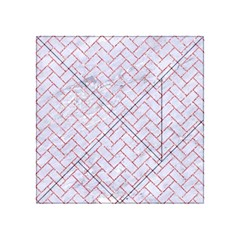 Brick2 White Marble & Pink Glitter (r) Acrylic Tangram Puzzle (4  X 4 ) by trendistuff