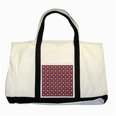 Purple Yellow Swirl Pattern Two Tone Tote Bag by BrightVibesDesign