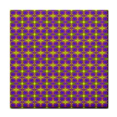 Purple Yellow Swirl Pattern Tile Coasters by BrightVibesDesign