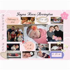 Jayna Birth Announcement By Lara Arrington   5  X 7  Photo Cards   Bp3tqjnu8lj7   Www Artscow Com 7 x5  Photo Card - 1
