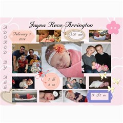 Jayna Birth Announcement By Lara Arrington   5  X 7  Photo Cards   Bp3tqjnu8lj7   Www Artscow Com 7 x5  Photo Card - 4