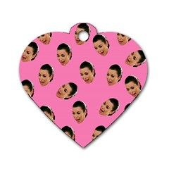 Crying Kim Kardashian Dog Tag Heart (one Side) by Valentinaart