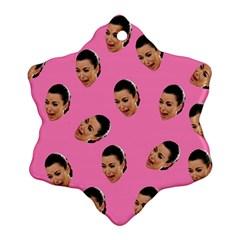 Crying Kim Kardashian Ornament (snowflake)