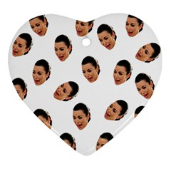 Crying Kim Kardashian Ornament (heart)