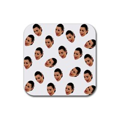 Crying Kim Kardashian Rubber Square Coaster (4 Pack)