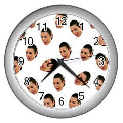 Crying Kim Kardashian Wall Clocks (silver)