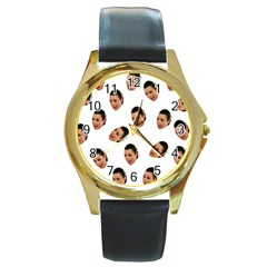 Crying Kim Kardashian Round Gold Metal Watch