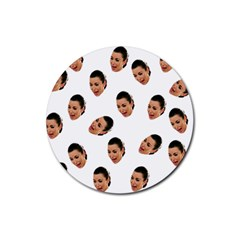 Crying Kim Kardashian Rubber Round Coaster (4 Pack)