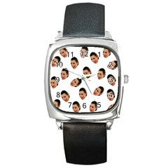 Crying Kim Kardashian Square Metal Watch