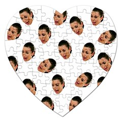 Crying Kim Kardashian Jigsaw Puzzle (heart)