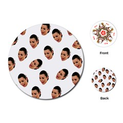 Crying Kim Kardashian Playing Cards (round)