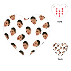 Crying Kim Kardashian Playing Cards (heart)