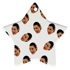 Crying Kim Kardashian Star Ornament (two Sides)