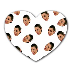 Crying Kim Kardashian Heart Mousepads