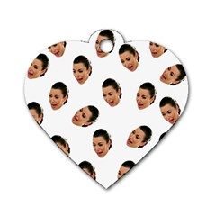 Crying Kim Kardashian Dog Tag Heart (one Side)