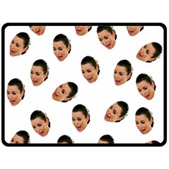 Crying Kim Kardashian Fleece Blanket (large)