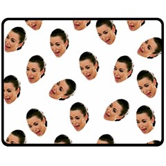 Crying Kim Kardashian Fleece Blanket (medium)