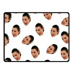 Crying Kim Kardashian Fleece Blanket (small)