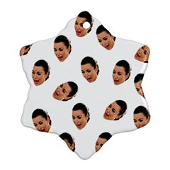 Crying Kim Kardashian Snowflake Ornament (two Sides)