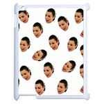 Crying Kim Kardashian Apple iPad 2 Case (White) Front