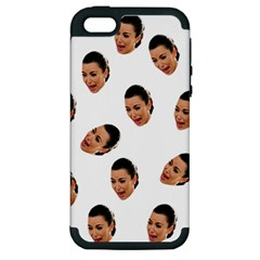 Crying Kim Kardashian Apple Iphone 5 Hardshell Case (pc+silicone)