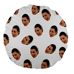 Crying Kim Kardashian Large 18  Premium Round Cushions