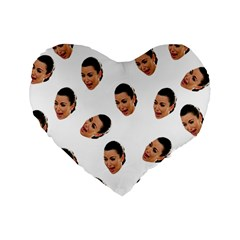 Crying Kim Kardashian Standard 16  Premium Heart Shape Cushions