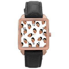 Crying Kim Kardashian Rose Gold Leather Watch