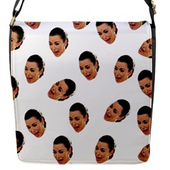 Crying Kim Kardashian Flap Messenger Bag (s)