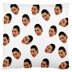 Crying Kim Kardashian Large Flano Cushion Case (two Sides)