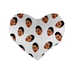 Crying Kim Kardashian Standard 16  Premium Flano Heart Shape Cushions