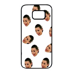 Crying Kim Kardashian Samsung Galaxy S7 Edge Black Seamless Case