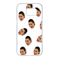 Crying Kim Kardashian Samsung Galaxy S7 Edge White Seamless Case