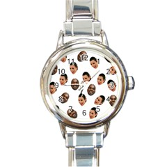 Crying Kim Kardashian Round Italian Charm Watch