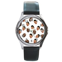 Crying Kim Kardashian Round Metal Watch