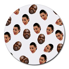 Crying Kim Kardashian Round Mousepads