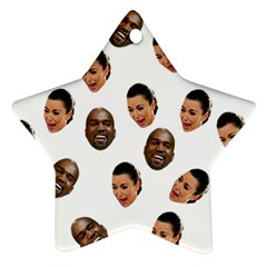Crying Kim Kardashian Ornament (star)