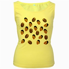 Crying Kim Kardashian Women s Yellow Tank Top