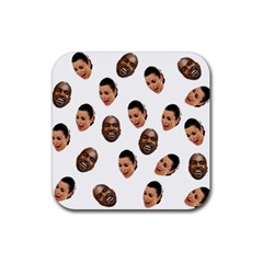 Crying Kim Kardashian Rubber Coaster (square)